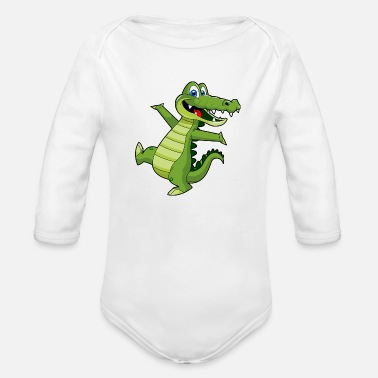 Wallpaper crocodile wallpaper - Organic Long-Sleeved Baby Bodysuit