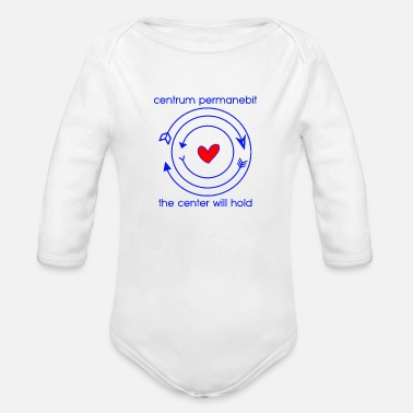 Center center permanebit - Organic Long-Sleeved Baby Bodysuit