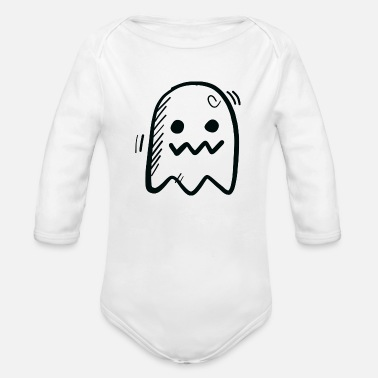 Ghost a ghost - Organic Long Sleeve Baby Bodysuit