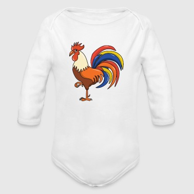 Rooster - Organic Long Sleeve Baby Bodysuit