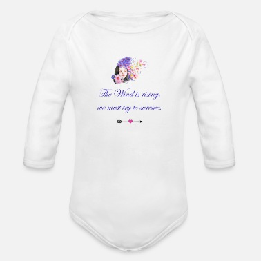Flower girl wind - Organic Long-Sleeved Baby Bodysuit