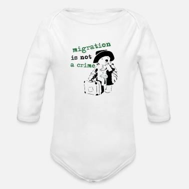 Refugees Welcome REFUGEES WELCOME - Organic Long Sleeve Baby Bodysuit