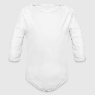 funny provocatively barcode Fuck Off middle finger - Organic Long Sleeve Baby Bodysuit