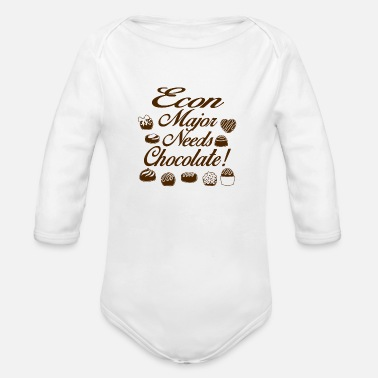 Major Econ major - Organic Long-Sleeved Baby Bodysuit