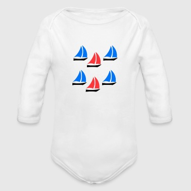 Boat Boats - Organic Long Sleeve Baby Bodysuit