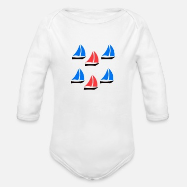 Boats Boats - Organic Long Sleeve Baby Bodysuit