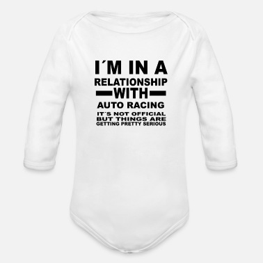 Vintage relationship with AUTO RACING - Organic Long-Sleeved Baby Bodysuit