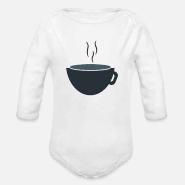 Coffe Coffe - Organic Long-Sleeved Baby Bodysuit