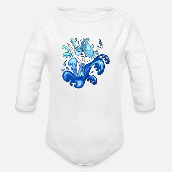 Dancing Baby Clothing - dancer - Organic Long-Sleeved Baby Bodysuit white
