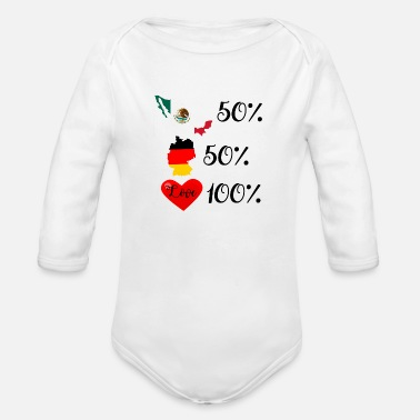 Mexican german/mexican - Organic Long-Sleeved Baby Bodysuit