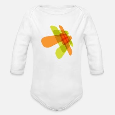 Graphic Element For Graphic Green and Red - Organic Long-Sleeved Baby Bodysuit