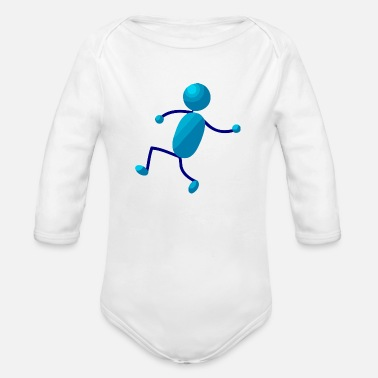 Stick Man Stick Man - Organic Long-Sleeved Baby Bodysuit