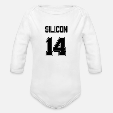 Silicone Element Silicon - Organic Long Sleeve Baby Bodysuit