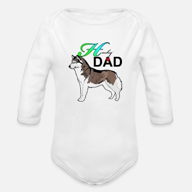 Husky Dad Husky Dad - Organic Long-Sleeved Baby Bodysuit