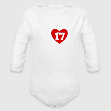 High School Senior 17 SENIORITY BETHEL HIGH SCHOOL - Organic Long Sleeve Baby Bodysuit