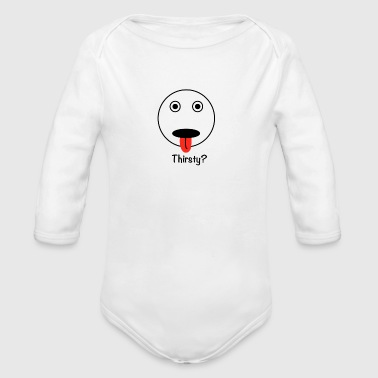 THIRSTY - Organic Long Sleeve Baby Bodysuit