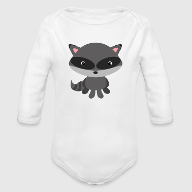 raccoon - Organic Long Sleeve Baby Bodysuit