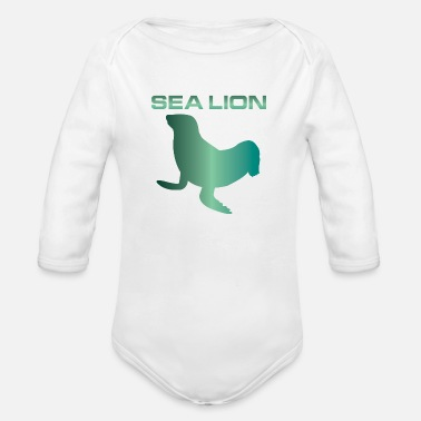 Sealion Sealion Seal Conservation Animal Welfare - Organic Long Sleeve Baby Bodysuit