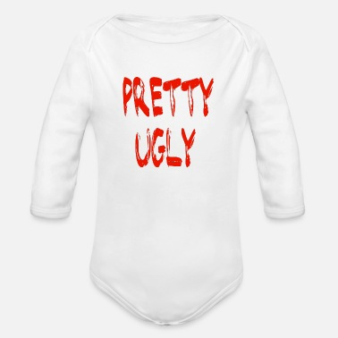 Ugly Boy PRETTY UGLY - Organic Long-Sleeved Baby Bodysuit