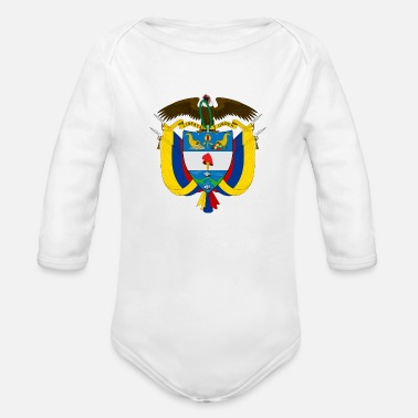 National Coat Of Arms Of Colombia - Organic Long-Sleeved Baby Bodysuit