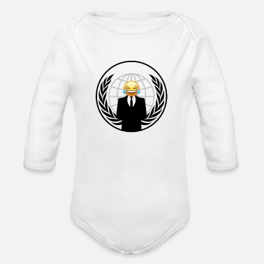 Emo Smiley Emo - Organic Long Sleeve Baby Bodysuit