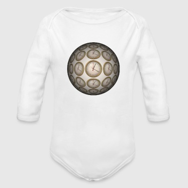 Clocks - Organic Long Sleeve Baby Bodysuit