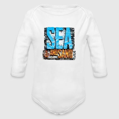 sea and sand - Organic Long Sleeve Baby Bodysuit