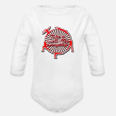 Keep Fitness every day - Organic Long-Sleeved Baby Bodysuit
