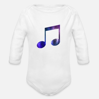 Music Galaxy Galaxy music note - Organic Long-Sleeved Baby Bodysuit