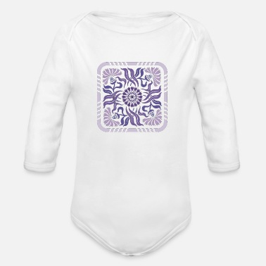 Lilac lilac - Organic Long-Sleeved Baby Bodysuit
