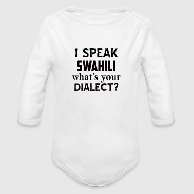 swahili dialect - Organic Long Sleeve Baby Bodysuit