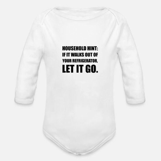 Refrigeration Baby Clothing - Household Hint Refrigerat - Organic Long-Sleeved Baby Bodysuit white