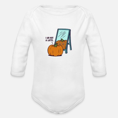 Latte Not a Latte - Organic Long-Sleeved Baby Bodysuit