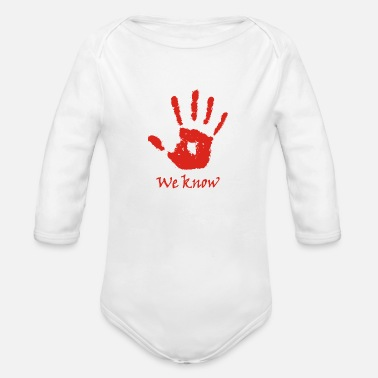 We Know - Dark brotherhood - Organic Long-Sleeved Baby Bodysuit