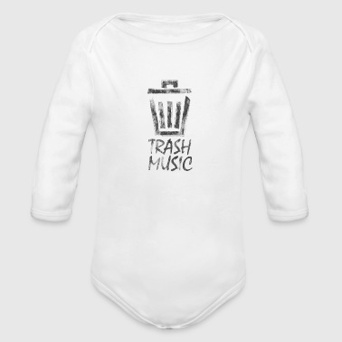 Black Music Trash Music Logo Black - Organic Long Sleeve Baby Bodysuit