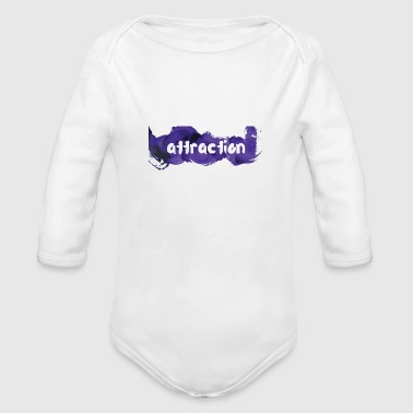 attraction - Organic Long Sleeve Baby Bodysuit