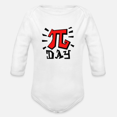 Pi Day Pi day - Organic Long Sleeve Baby Bodysuit