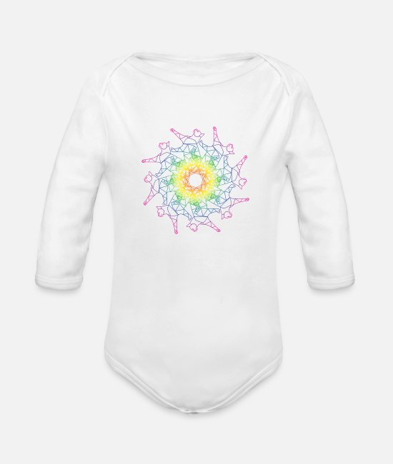 Pattern Baby One Pieces - Fractal Kitties? - Organic Long-Sleeved Baby Bodysuit white