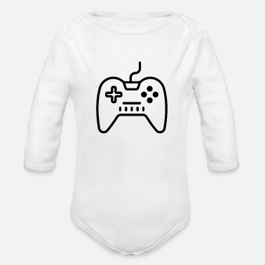 Video Video Games - Organic Long Sleeve Baby Bodysuit