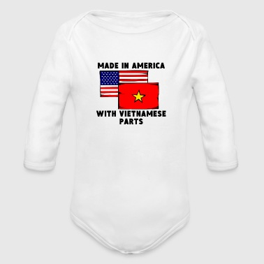 Made In America With Vietnamese Parts - Organic Long Sleeve Baby Bodysuit