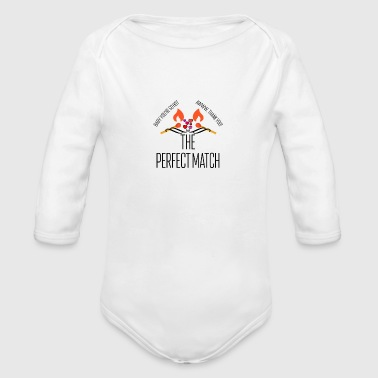 Perfect match - Organic Long Sleeve Baby Bodysuit