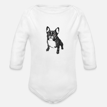 Bulldog french bulldog - Organic Long Sleeve Baby Bodysuit