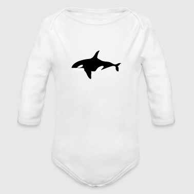 Killer Whale - Organic Long Sleeve Baby Bodysuit