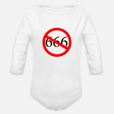 666 No to 666 - Organic Long-Sleeved Baby Bodysuit