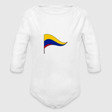 Colombia South America Meran Flags Banner Ensigns - Organic Long Sleeve Baby Bodysuit
