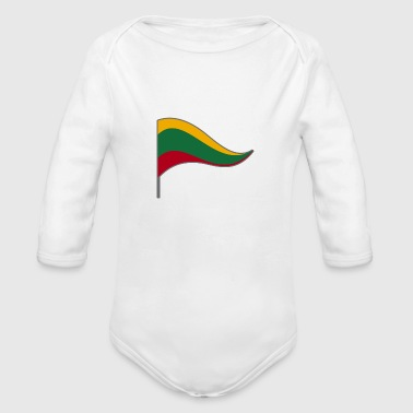 Lithuania Europe Baltic Flag Banner Flags Ensigns - Organic Long Sleeve Baby Bodysuit