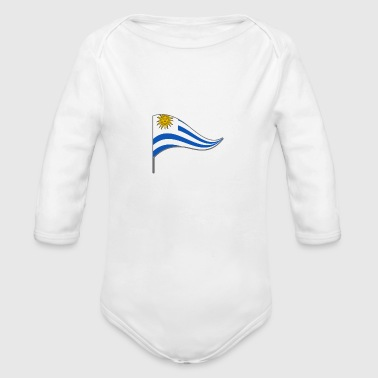 Uruguay Flag Banner Flags Ensigns South America - Organic Long Sleeve Baby Bodysuit
