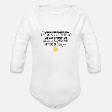 Lift Elevator How british people say lift instead of elevator - Organic Long Sleeve Baby Bodysuit