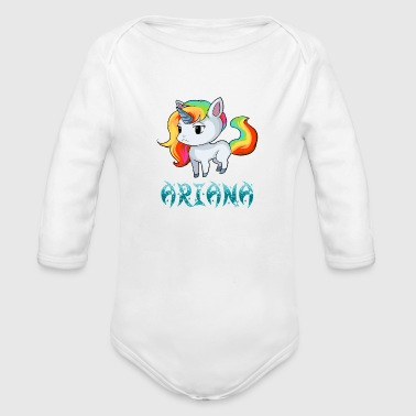 Ariana Unicorn - Organic Long Sleeve Baby Bodysuit