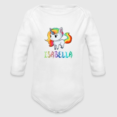 Isabella Unicorn - Organic Long Sleeve Baby Bodysuit